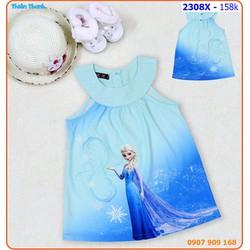 Đầm công chúa Elsa cổ yếm duyên dáng ngày hè