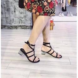 giay sandal got vuông rọ cao câp -pll1574