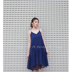 Sale Off-Đầm Maxi Voan Phối Ren Cực Đẹp