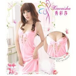 Váy Ngủ Gợi Cảm Lụa Nơ Sexy MS729