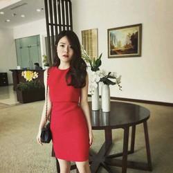 Đầm body đỏ răng cưa