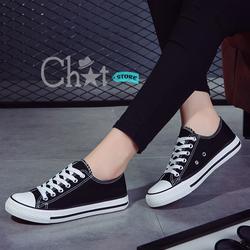 Giày Classic Nữ Đen Cổ Thấp