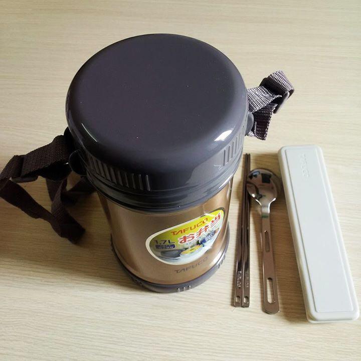 Hộp cơm giữ nhiệt Tafuco Nhật bản - 3 ngăn 1,7l 4