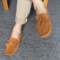 Giày Lười Nam Da Lộn Cao Cấp - New 2017