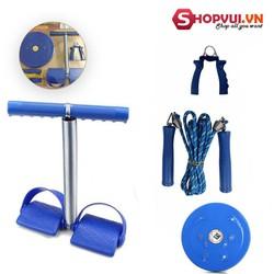Bộ 4 món dụng cụ tập thể dục đa năng Tummy và đĩa xoay eo