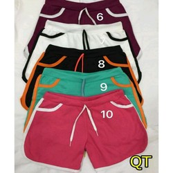 Combo 4 quần đùi short thun nữ thể thao đẹp nhiều màu