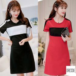 [HÌNH THẬT] Váy Đầm Suông Đẹp Sọc Cao Cấp Dáng Thể Thao Thời Trang