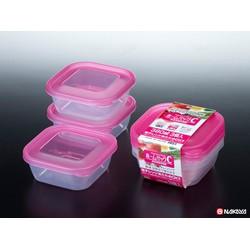 Set 3 hộp nhựa 380ml màu hồng - xanh - trắng