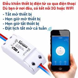 Công tắc điều khiển bật tắt và hẹn giờ thiết bị qua Wifi SONOFF