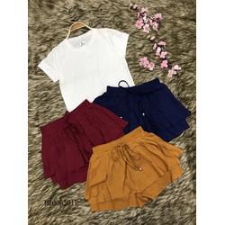 Set áo thun trơn tay con quần short màu vạt ! MS: S200644 Gs: 105K