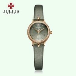 đồng hồ dây da nữ đính hạt thời trang julius