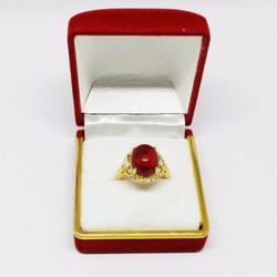 Nhẫn nữ đính đá ruby cao cấp|Nhẫn nữ thời trang cao cấp giá tốt