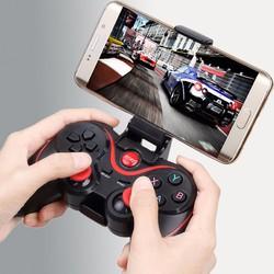 Tay cầm chơi game Bluetooth Terios T3, Máy chơi game cầm tay 200k