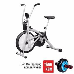 Xe đạp thể dục Air Bike tặng con lăn tập bụng Roller Wheel