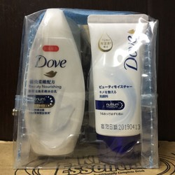 Set dầu gội, xả, sữa rửa mặt, sữa tắm Mini của DOVE