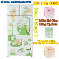 TỦ NHỰA DUY TÂN MINA KHỦNG LONG CUTE TẶNG 1 TỦ TOMI