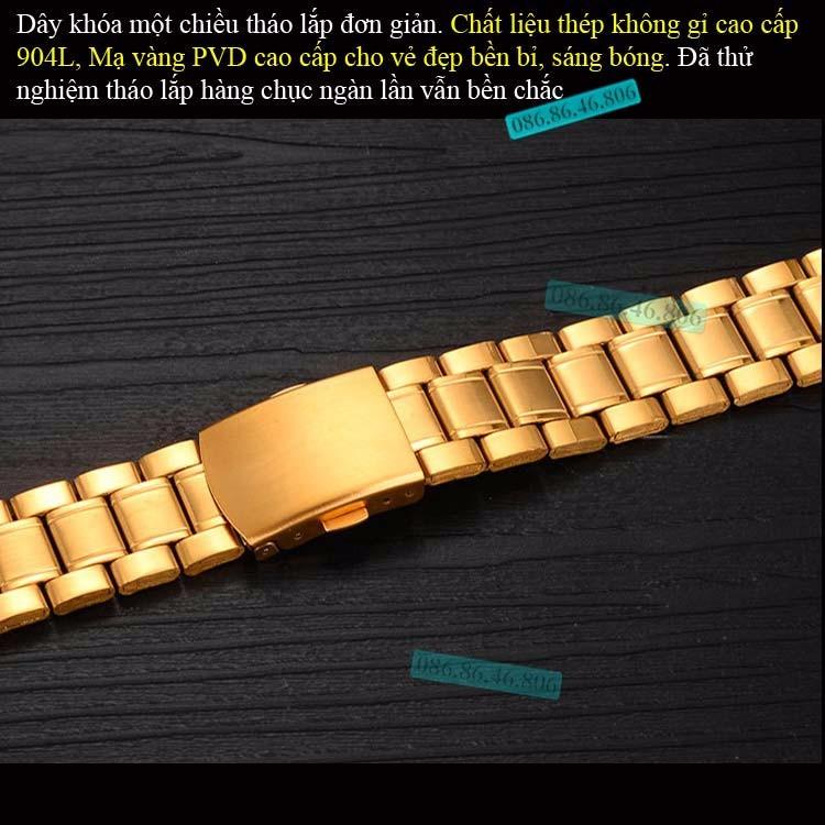Đồng hồ lộ máy cơ cao cấp mạ PVD vàng kính sapphire chống nước Thụy Sĩ 11
