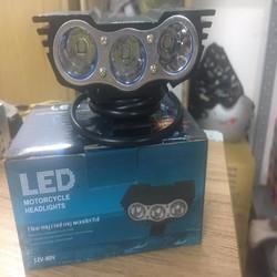 Đèn Led mắt cú 3 bóng   đèn led xe máy