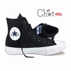 Giày Sneaker Nam Classic Đen Cao Cổ