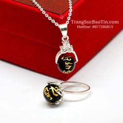 Bộ Trang Sức Đá Obsidian Đen