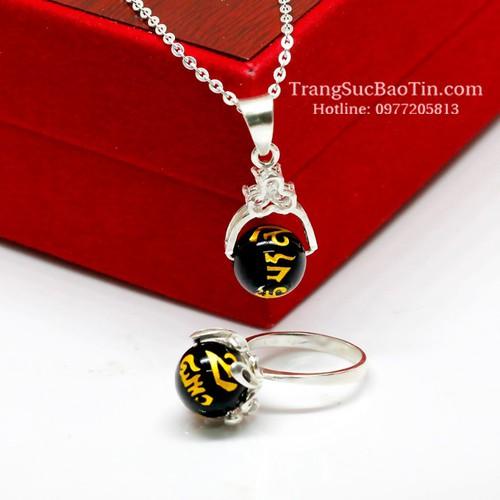 NHẬP SXUON05059 Nhận Giảm Giá, Bộ Trang Sức Nữ Đá Obsidian Đen