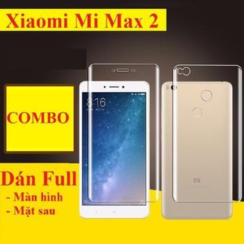 Xiaomi Mi Max 2 : Dán full màn hình và mặt sau