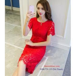 ĐẦM REN NỔI SANG TRỌNG - HÀNG NHẬP HỒNG KÔNG CAO CẤP TT498