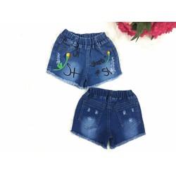 Quần sọt jeans thêu chữ - QG126[10-24kg]