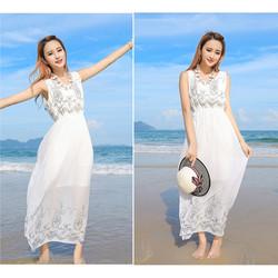 Váy đầm maxi dạo chơi đi biển 06