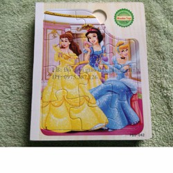 Sách gỗ ghép hình chủ đề công chúa đồ chơi giáo dục