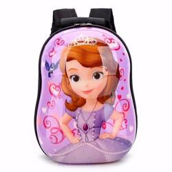 Ba lô nhựa xinh xắn dành cho trẻ em - Công chúa - Tím