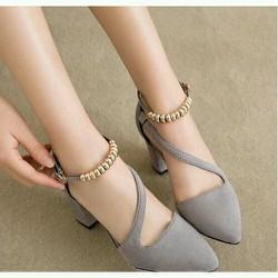 giày cao gót mũi bít Hàng thiết kế cao cấp