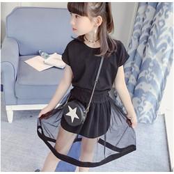 Set áo và chân váy cho bé gái 18-40kg  - HX1468