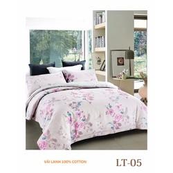 Bộ Drap Mền vải Lanh LT05  size 1m8