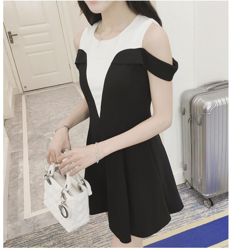 Đầm rớt vai - váy khoét vai -  hàng thiết kế  - đầm đẹp 9