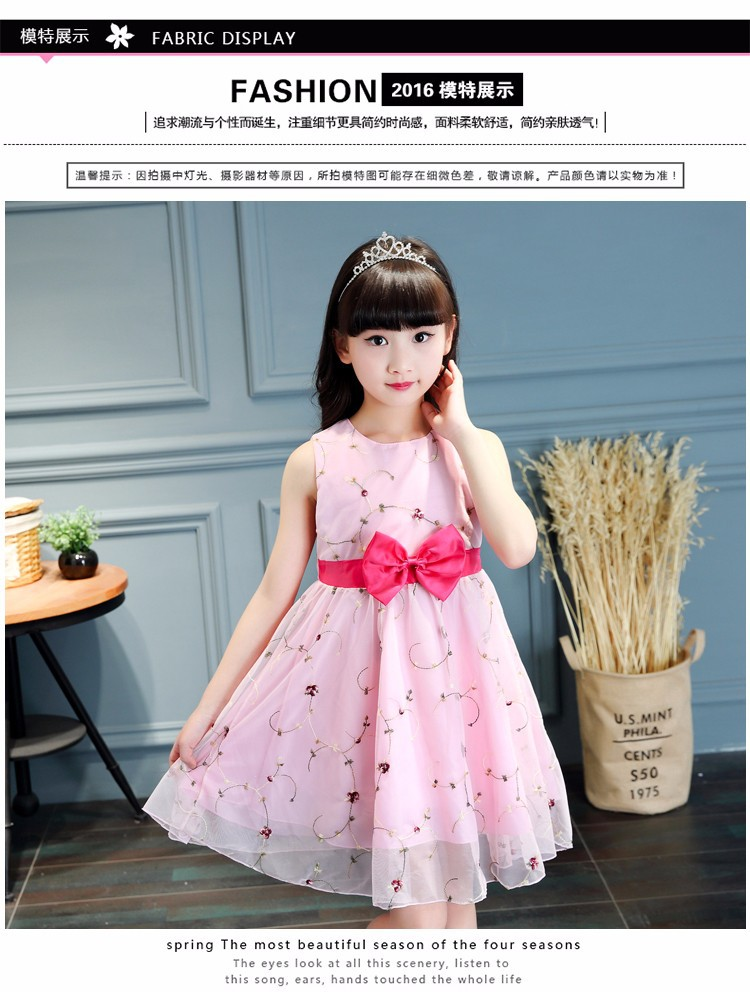 Đầm xèo hoa bé gái 4 - 5 tuổi 6