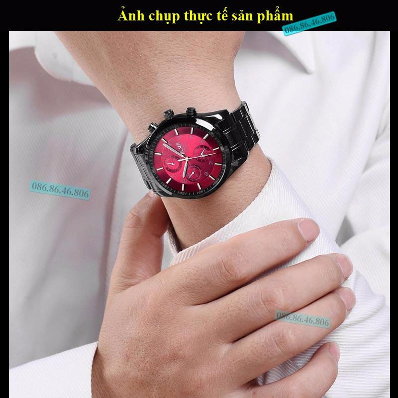 đồng hồ cơ mạ crom cao cấp k 237 nh sapphire chống nước thụy