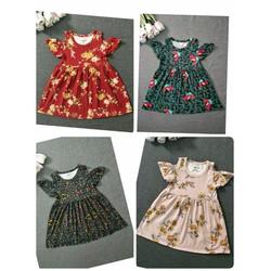 Váy hoa hở vai cho bé yêu mùa hè năng động 2017