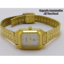 Đồng hồ nữ mặt chữ nhật vàng cổ điển sang trọng, hàng nhập khẩu