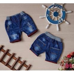 Quần lửng jeans mềm lưng bo thêu chữ - QT97[20-30kg]