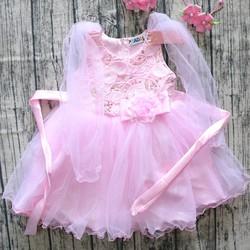 Đầm voan xòe công chúa hồng