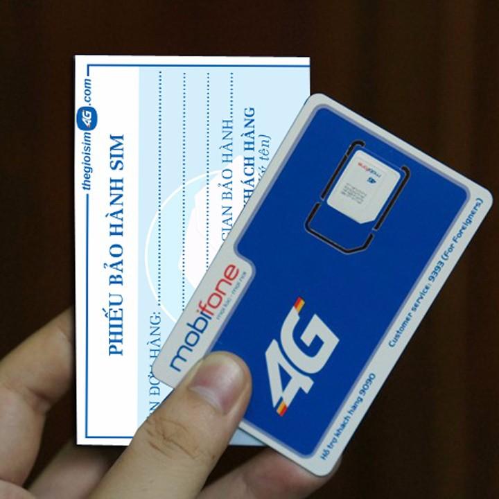 SIM 4G MOBIFONE TẶNG 150GB/THÁNG - TGS4G-150GB - 59K/Sim - 7