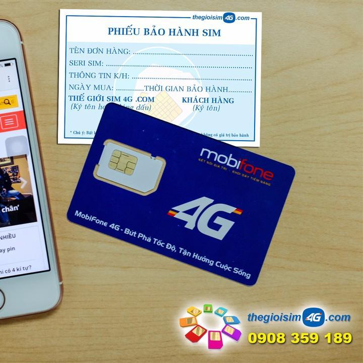SIM 4G MOBIFONE TẶNG 150GB/THÁNG - TGS4G-150GB - 59K/Sim - 5