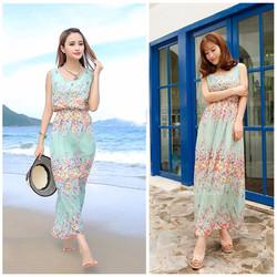 Váy đầm maxi dạo chơi đi biển 05