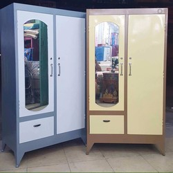 tủ sắt quần áo giá rẻ bền đẹp 1m8x90 freeship