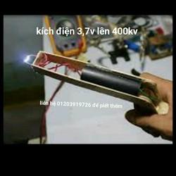 kích điện từ 3v lên 400kv