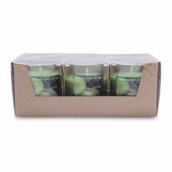 Hộp 6 ly nến thơm  hương dưa gang tây Miss Candle NQM0413 Xanh lá