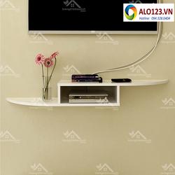kệ gỗ treo tường phòng khách mẫu kệ Tivi TV158