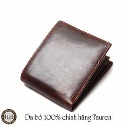 Freeship Ví da bò chính hãng Tauren cao cấp - Bóp Nam Da Bò