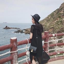 Đầm suông voan đi biển   Váy suông voan đi biển